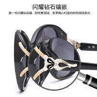 偏光太阳镜女士圆脸防紫外线时尚潮流眼镜 墨镜女大框优雅