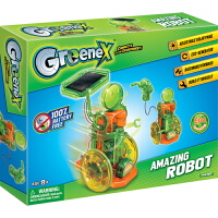 【满200减100】太阳能手摇发电机器人香港Greenex科学实验科技小制作儿童科普diy益智学习用品科教玩具总动员8