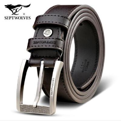 HD七匹狼(SEPTWOLVES)皮带男士腰带针扣休闲系列韩版学生青年裤带