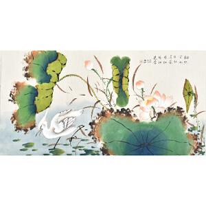 当代著名画家杨迪三尺整张花鸟画gh03961