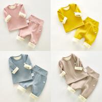 儿童宝宝冬装高腰保暖内衣套装男童家居服女婴儿睡衣