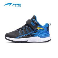 七波辉男童鞋 新款儿童高帮篮球鞋 秋季男童舒适休闲运动鞋