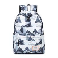 双肩包女韩版印花旅行背包学院学生书包防水校园背包