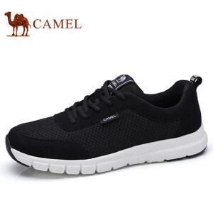 camel 骆驼男鞋 春秋季新品时尚运动鞋缓震休闲鞋轻盈网面跑鞋