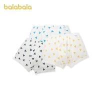 【1.27超品 2件6折:35.4】巴拉巴拉男童�妊�平角�棉�和�短�中大童�����H�w3�l�b