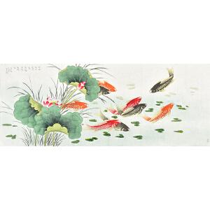 中国书画研究会会员 唐晓静173 X 68CM花鸟画 gh05323
