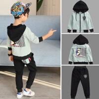 男童秋装套装中大童儿童春秋季运动卫衣两件套潮