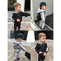 男童秋装套装男儿童运动连帽卫衣两件套