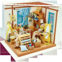 儿童益智立体拼图玩具 若态diy小屋 创意纯手工拼装裁缝店立体模型