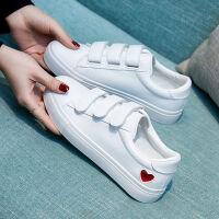 春秋新款鞋子女学生韩版小白鞋女百搭运动鞋魔术贴平底板鞋休闲鞋