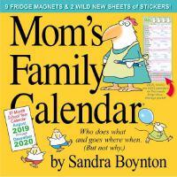 现货 妈妈的家 2020年 新年日历 附赠500个贴纸 9个磁铁 英文原版 Mom's Family 2020 Calendar