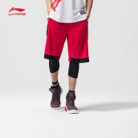 李宁短裤比赛裤男士2017新款篮球系列速干篮球裤凉爽针织运动裤AAPM019