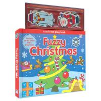 【首页抢券300-100】Fuzzy Christmas 圣诞贴纸书 静电贴纸板书 故事书 英文原版