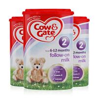 英国直邮 英国Cow&Gate牛栏婴儿奶粉2段(6-12个月宝宝)900g【3罐组合】