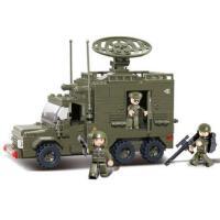 小鲁班积木 陆军部队雷达车模型儿童拼装益智玩具儿童积木