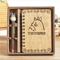 创意礼品动漫宫崎骏龙猫笔记本叮当猫海贼王本子日记本龙猫本子笔