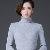 黑色高领毛衣女2018新款打底衫长袖秋冬紧身修身套头韩版加厚短款