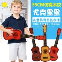 六美 儿童音乐吉他仿真尤克里里可弹奏益智乐器电子琴宝宝早教玩具送背带*1+教程*1