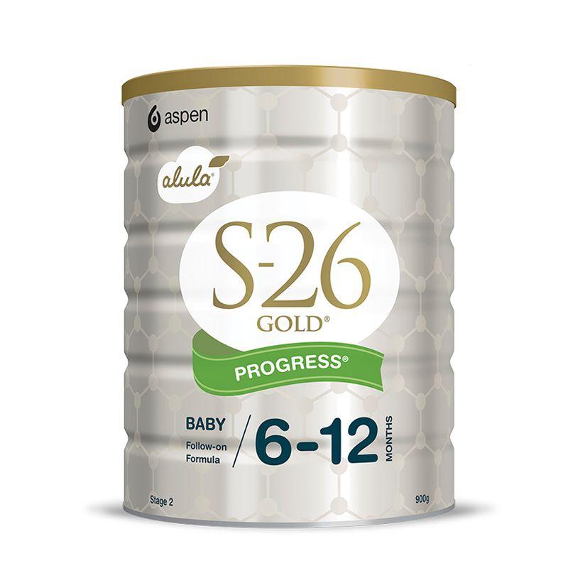 新西兰S26惠氏 金装婴幼儿配方牛奶粉2段(6-12个月宝宝) 900g(新西兰版)产地:新西兰日期新鲜