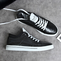 2019夏季韩版潮流板鞋小白鞋男士休闲鞋白色皮鞋男鞋子男百搭潮鞋夏季百搭鞋
