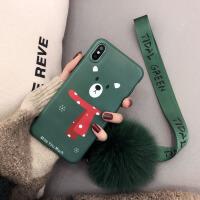 圣诞秋冬xsmax苹果x手机壳硅胶8plus潮牌iphone7挂绳毛球6s新款女 6/6S 4.7寸