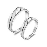 韩版潮人男士 尾戒女小指925银情侣对戒指 S925银 饰品
