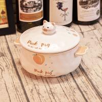 泡面碗 创意可爱卡通陶瓷泡面碗日式学生家用拉面方便面泡面碗泡面杯饭盒厨房用品