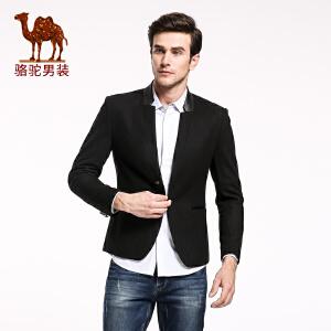 骆驼&熊猫联名系列男装 青年男士商务休闲西装外套 一粒扣西服男