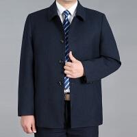 春秋季中年男士夹克翻领中老年人男装70爸爸扣子版60茄克衫50上衣