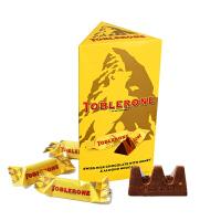 Toblerone瑞士三角 亿滋进口 牛奶巧克力含蜂蜜及巴旦木糖(单粒独立包装) 共200g (瑞士进口)  礼盒装*精选 休闲零食