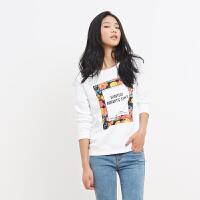 美特斯邦威女装花卉图案套头衫713566