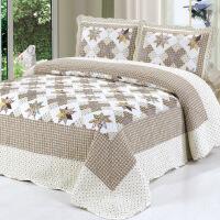 绗缝被纯棉床盖三件套 床上用品四件套