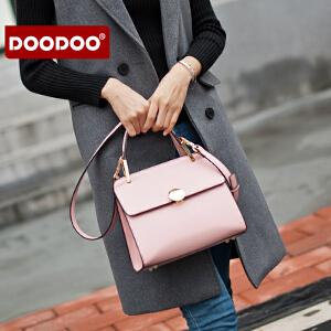 【支持礼品卡】DOODOO 手提小包包2018新款韩版简约斜挎小方包女士斜挎单肩女包潮 D6181