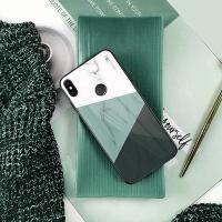 时尚小米max3/mix3/mix2s手机壳玻璃潮男女全包防摔超薄个性创意 小米max3 - 莫兰迪绿