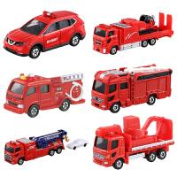 合金小汽车玩具男孩儿童云梯消防车救援车指挥车