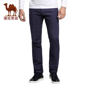 骆驼&熊猫联名系列男装 时尚青年修身小脚休闲裤男士纯色长裤子男