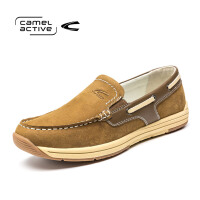 Camel Active/骆驼动感新品套脚真皮时尚百搭休闲鞋男真皮帆船鞋