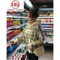 秋冬季新款cec卫衣女套头韩版高领假两件加绒加厚宽松学生外套潮
