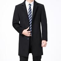 中年男士羊绒大衣长款羊毛风衣过膝呢子西装商务呢秋冬毛呢外套男
