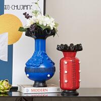 美式复古摆件家居软装饰品客厅玄关电视柜插花瓶工艺术品创意摆设