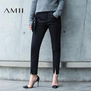 【品牌团 1件7折/2件5折】AMII[极简主义]i2017年春女新款百搭修身大码休闲长裤11692145