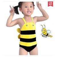 可爱小蜜蜂儿童泳衣连体游泳衣婴儿男童女童宝宝通用泳装泳衣