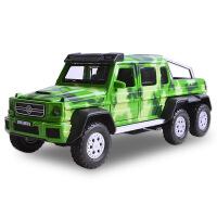 1:32越野合金车奔驰巴博斯汽车模型六轮带声光儿童 玩具车模