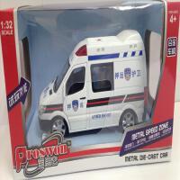 仿真奔驰警车合金车模型押运输儿童声光回力玩具汽车