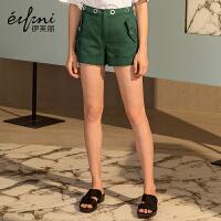 【商场同款】伊芙丽新款韩版纯棉休闲裤短款女1170411052881