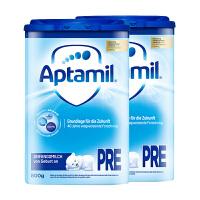 【P段普通】保税区发货 德国Aptamil爱他美 德爱婴儿新生儿奶粉 Pre段(0-6个月) 800g*2罐 海外购