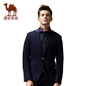 骆驼&熊猫联名系列男装 时尚修身西装商务休闲圆点小西服潮