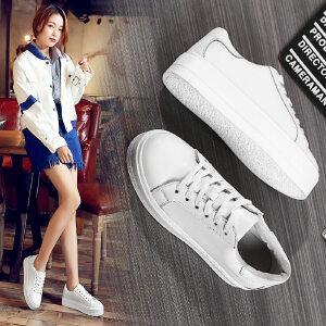 ZHR2018春季新款韩版厚底小白鞋女真皮平底板鞋学生单鞋休闲鞋潮G28
