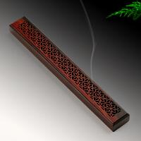 红木沉香檀香线香盒 实木质香板香插香座香具 红酸枝熏香炉卧香炉