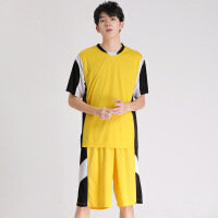 verhouse 男士运动套装夏季新款男青年无袖速干足球服宽松大码篮球服两件套男运动休闲套裤